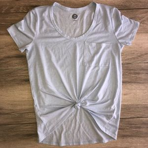 Light Blue Short Sleeve Tee with Pocket EUC